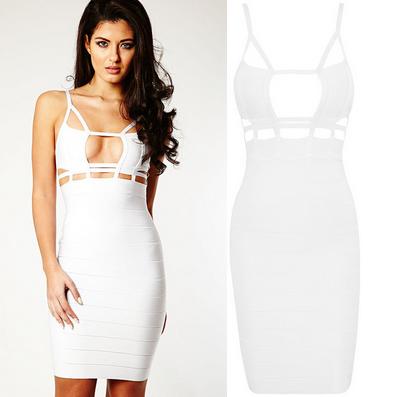 Cage dress white
