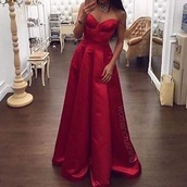 dress,red dress,long dress,prom dress,satin
