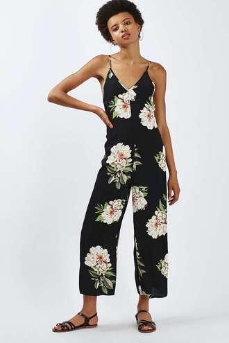 jumpsuit topshop romper clothes floral