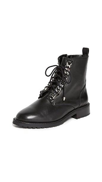Rebecca Minkoff combat boots black shoes