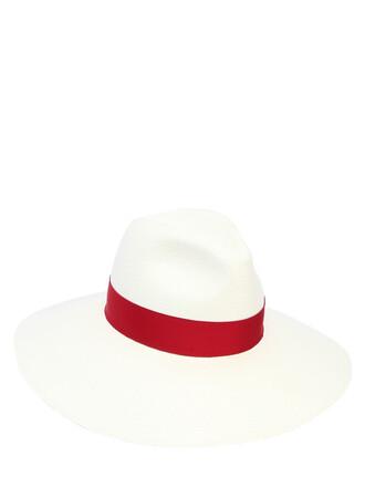 hat white red