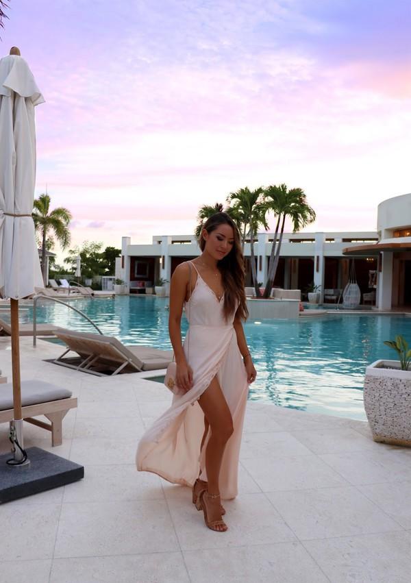 hapa time blogger dress shoes jewels sandals maxi dress summer dress