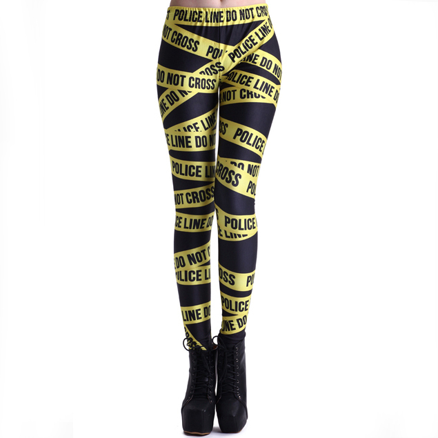 Police Line Do not Cross Leggings from FLYNECESSITY BOUTIQUE on Storenvy