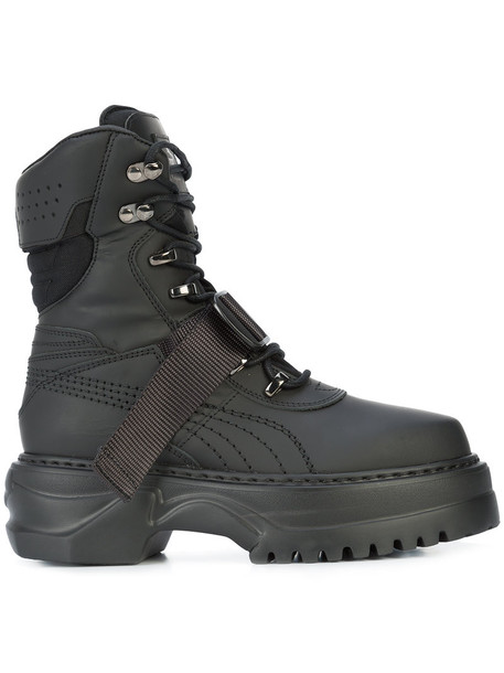 Fenty x Puma women winter boots leather black shoes