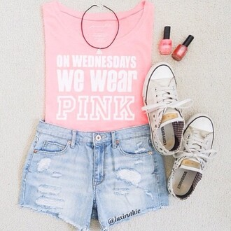 top pink skirt meangirls