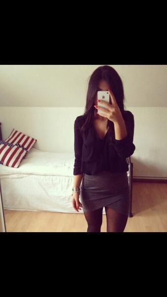 skirt grey skirt dress casual