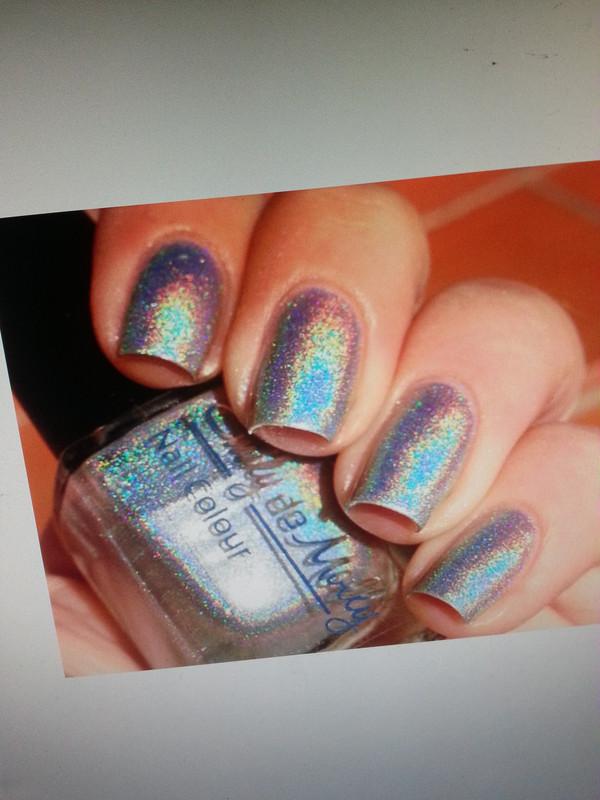 nail polish glitter silver sexy sparkle