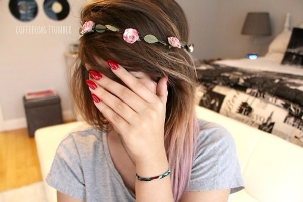 jewels flower crown hippie headband nails flowers flower hair