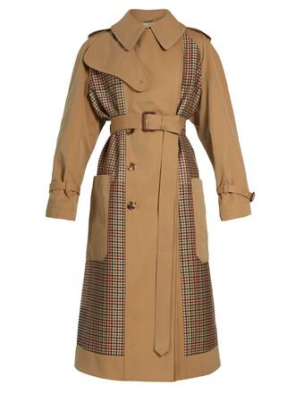 coat trench coat back beige