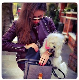 celine purple hot jacket burgundy babe fancy luxury classy sassy style