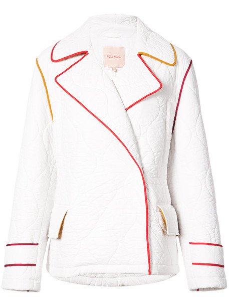 Roksanda jacket women quilted white