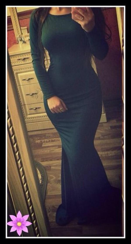 green tight dress