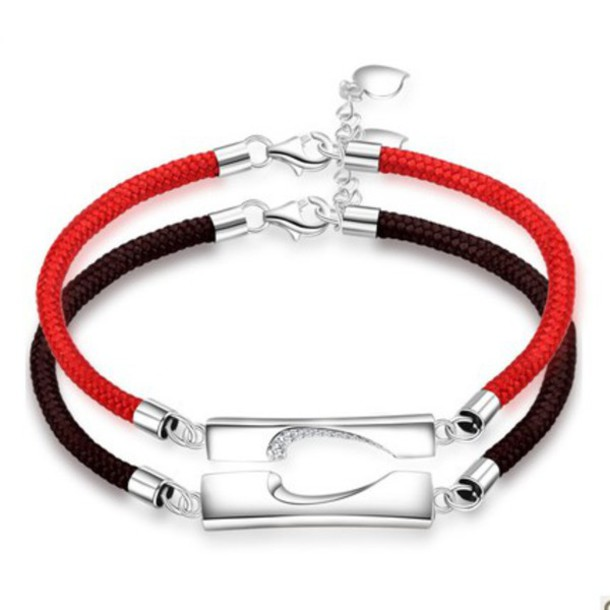 Jewels: his and hers bracelets, couples bracelets ...