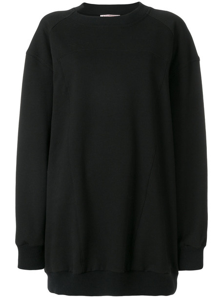 sweatshirt women spandex cotton black sweater