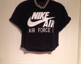 Nike crop top on etsy, a global handmade and vintage marketplace.