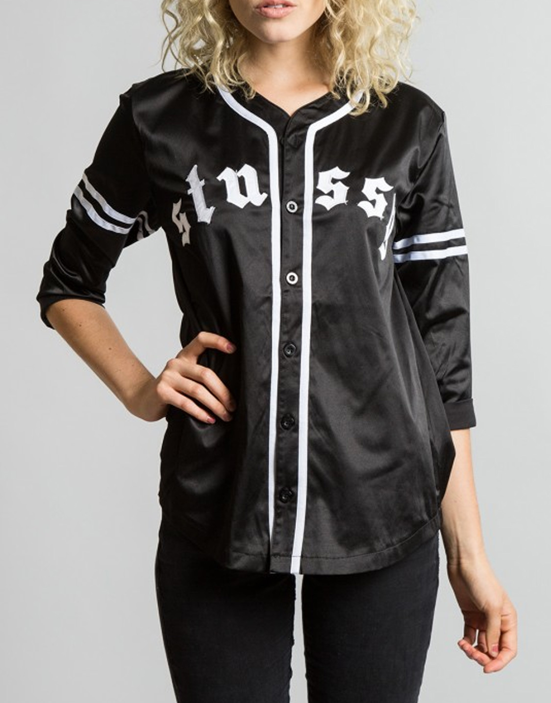 Stussy satin baseball shirt