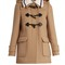 Detachable-collar wool duffle coat