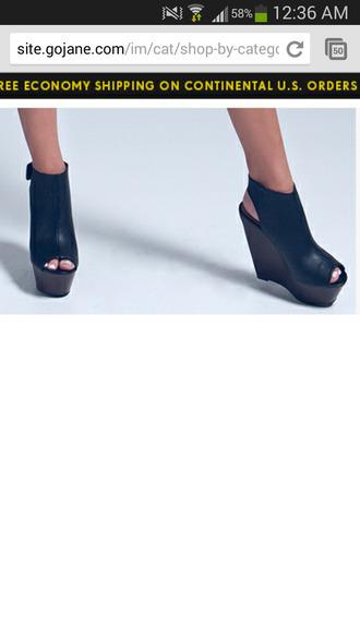 heels wedges booties peep toe heels black  high heels peep toe boots