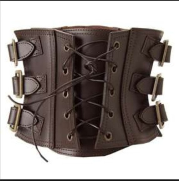 corset Belt goth dark dominatrix