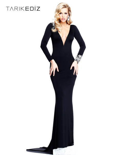 2cd74dd256 sheath black dress v neck prom dresses long sleeve dress long prom dress v  neck dress