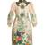 Embellished floral-cloqué coat
