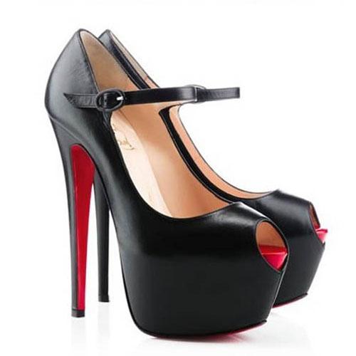Christian Louboutin Lady Highness 160mm Leather Pumps Black,Cheap Louboutins