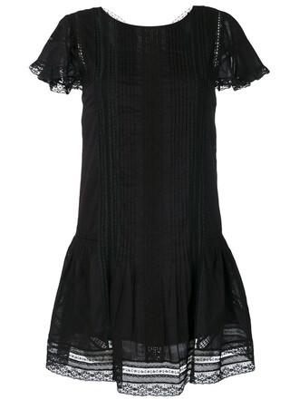 dress women lace cotton black