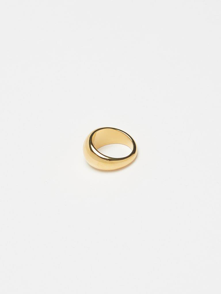 Small Gold Orb Ring