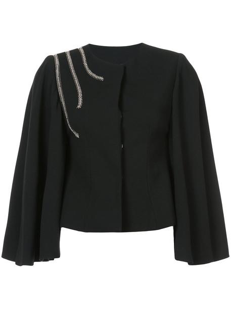 jacket women spandex black silk