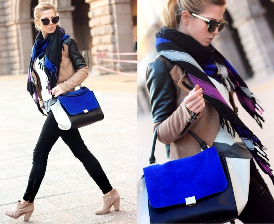 Europe Color Block Bat Wings Handbag [FPB470]- US$ 49.99 - PersunMall.com