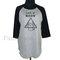 Look at meow shirt grey raglan shirt **3/4 sleeve shirt **men women tshirts **teen clothing size s m l xl