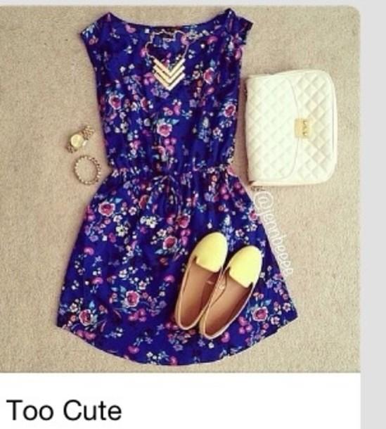 Dress floral dress short short dress flowers floral cute like follow mightylinksfo