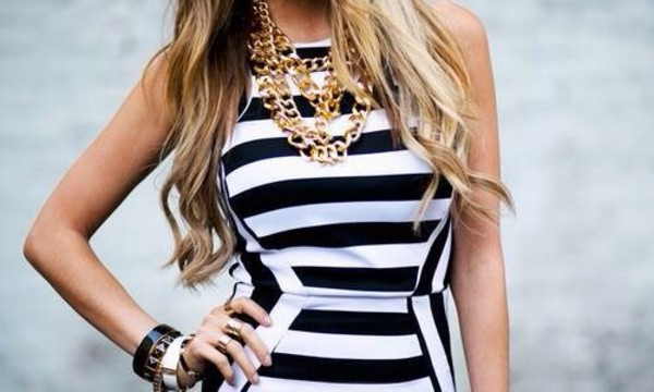dress striped dress black and white summer dress high-low dresses nice dress spring dress