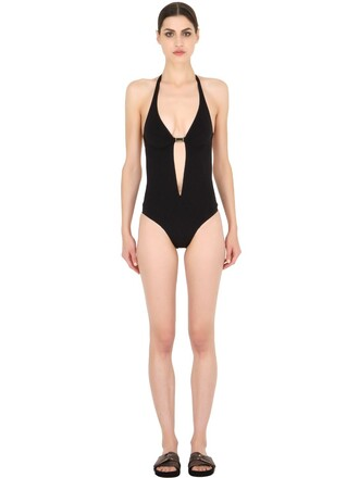 one piece swimsuit black swimwear