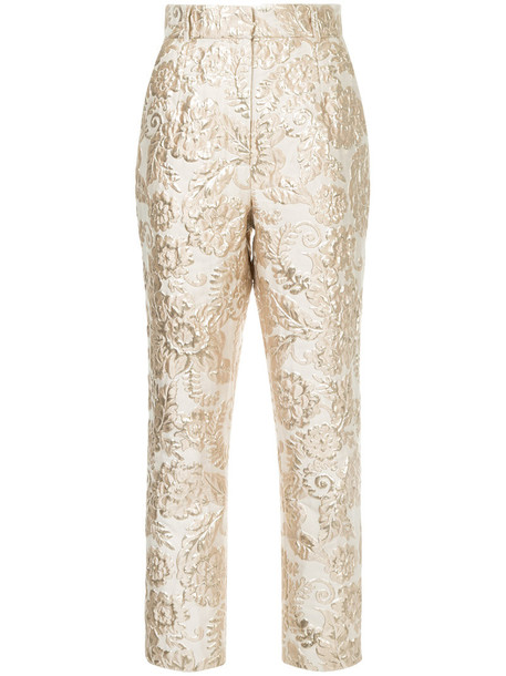 Alice McCall metallic women nude pants