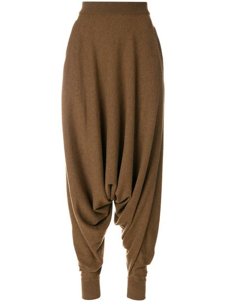 Agnona pants harem pants high women harem brown