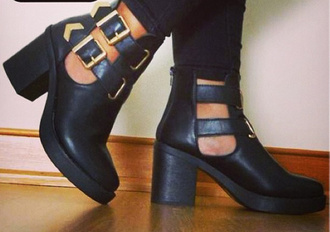 shoes military boots combat boots boots chunky gold black shoes platform shoes