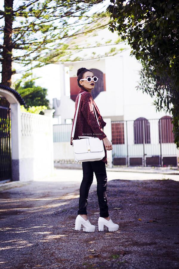 mexiquer sunglasses jacket t-shirt jeans bag shoes