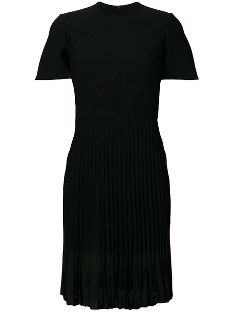 dress pleated dress pleated women black silk wool