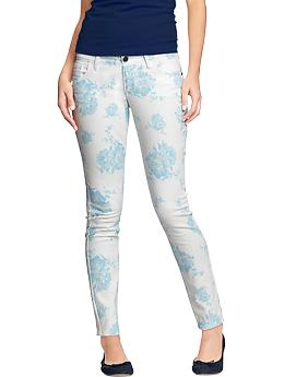 Women's The Rockstar Printed Skinny Jeans | Old Navy