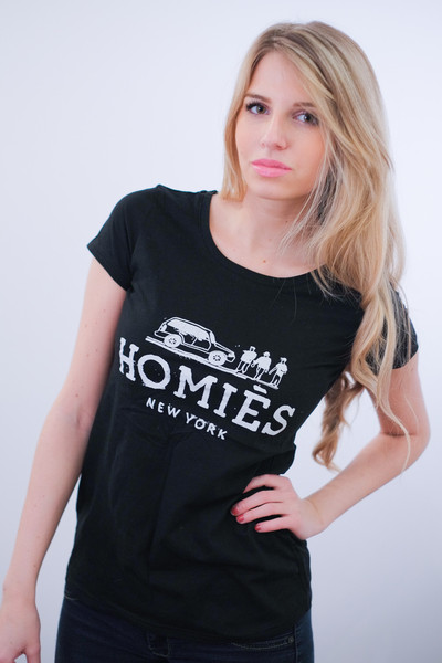 HOMIES New York Print T-Shirt (2 colors available) – Glamzelle