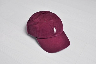 hat wine burgundy polo shirt polo hat ralph lauren ralph lauren clothes fly red on point clothing trendy