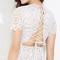 White halter back lace up on storenvy