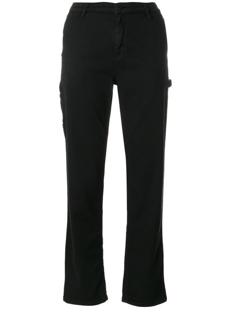 Carhartt - straight trousers - women - Cotton/Polyester - 29, Black, Cotton/Polyester
