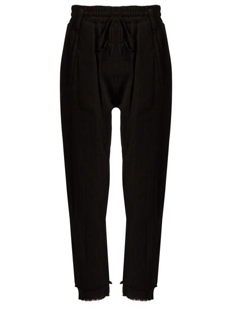 cotton black pants