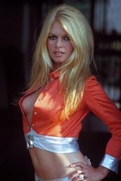 blouse,orange,satin,retro,cropped,brigitte bardot