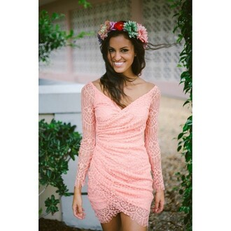 dress e's closet peach lace dress coral dress lace dress coral lace dress peach dress