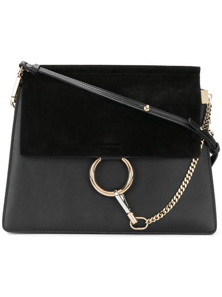 Chloe women bag shoulder bag leather suede black