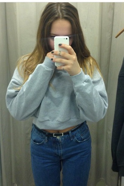 sweater light blue/grey jumper