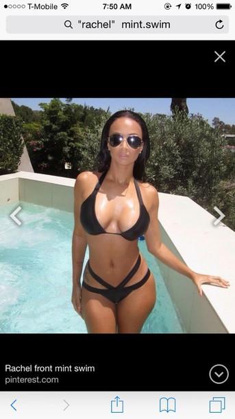 swimwear black bikini white swimwear mint swim